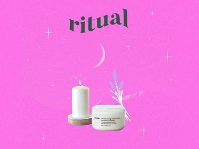 Ritual collage social media design branding