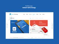 Portfolio page restart-tehcnology