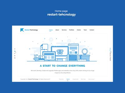 Home page  restart-tehcnology site design home tehcnology ux ui web