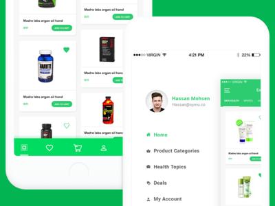 Emar Shop for medicines medicines ios app mobile photoshop application web ux ui