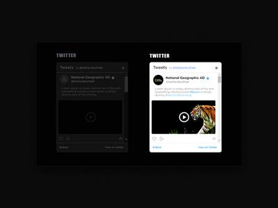 Design API Twitter ui  ux design national geographic photoshop black and gold dark web site ux design