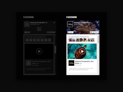 Design API Facebook national geographic wire frame facebook api dark site web ux kit ui  ux