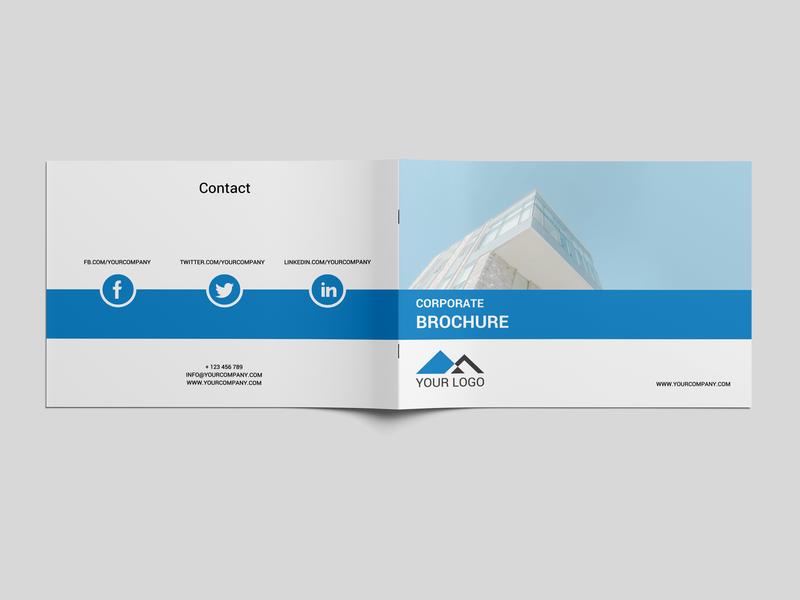 Corporate Business Brochure Psd Template psd print corporate business card corporate a5 brochure