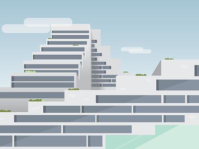 Building Closeup building architecture china design vector flat illustration