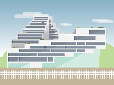 Building  vector architecture building illustration illustrator flat design