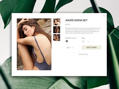 ANAÏS SWIM cta bikini swim shopping lifestyle dailyui web typography sale photoshop sketch ui