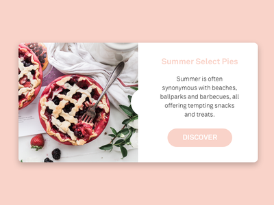 Summer Berry Pies recipe cooking web ui typography type minimal lifestyle food design