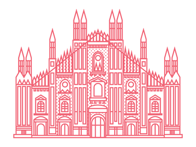 Duomo di Milano milano milan flat architecture italy vector graphic design illustration illustrator