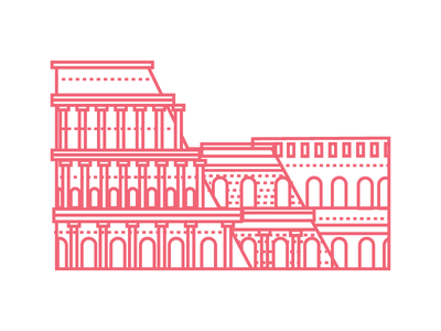 Roman Colosseum rome colosseum vector italy illustrator illustration graphic landmark city architecture