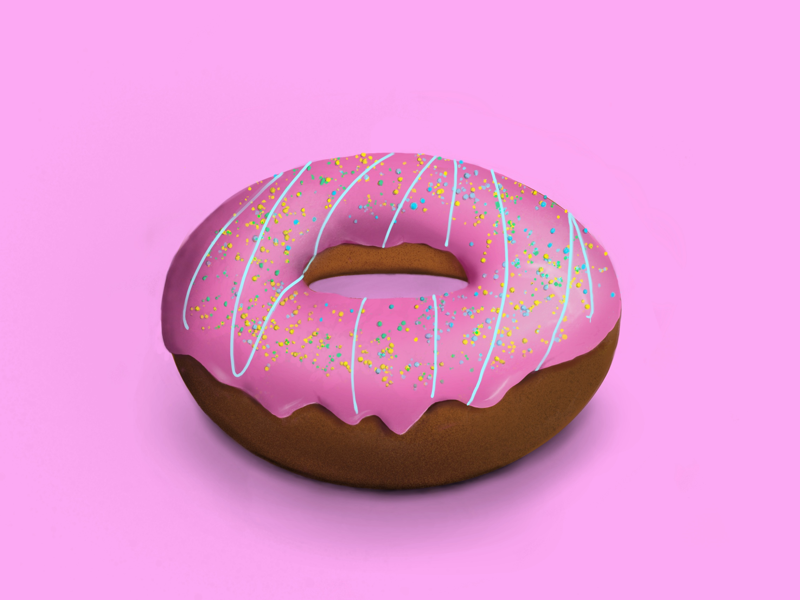 Donut 🍩 ipad procreate drawing digital pink donut design illustration