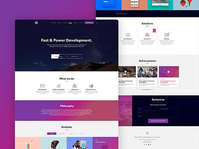 Portfolio gradient landing web development portfolio