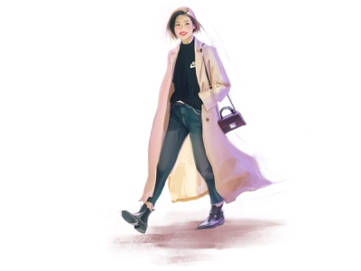 October look sketch fashion characters fashion-illustration girl illustration female