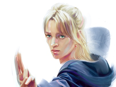 Beatrix Kiddo killbill characters uma thurman tarantino fashion-illustration illustration female portrait illustraion