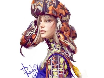 Prada Resort'19 Shapka prada 2019 fashion week design print girl female portrait fashion prada