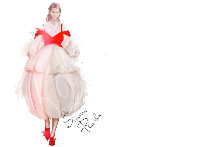 SimoneRocha fashionillustration fashionweek illustration fashion art fashion simonerocha female
