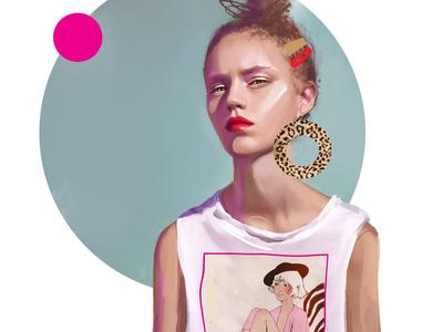 Guess what fashion-illustration characters fashion illustration girl design print sketch portrait female illustration art