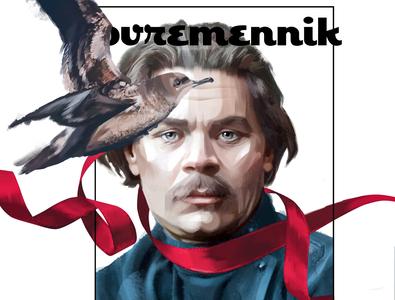 Gorkiy digital painting wacom design illustration portrait