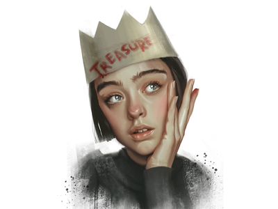 Treasure crown (evo-lutio) fashion-illustration characters sketch illustration girl female portrait