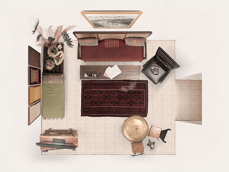 Livingroom A home apartment couch table chair carpet photoshop puzzle art furniture paper coffee
