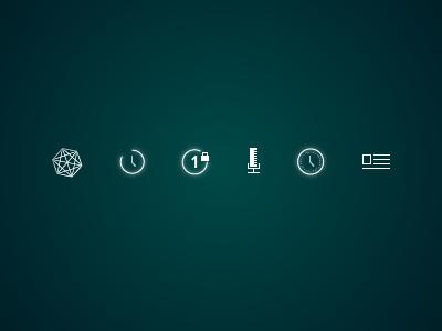 Pixelock Iconset iconset icon set ui user interface gui icons thin glow glowing app ios7 web design