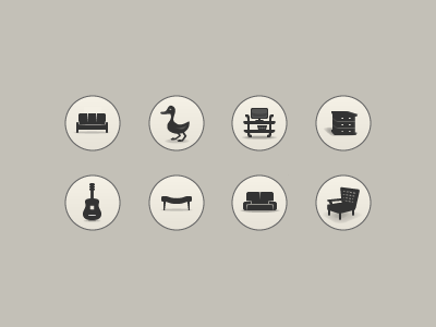 Furniture icon set iconset icon set ui user interface gui icons glowing web design app ios7 stuff furniture