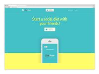 Landing Page (Diet Race App)