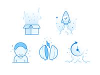 Xplenty Badges pokemon rocket box user pop explosion confetti icons badges