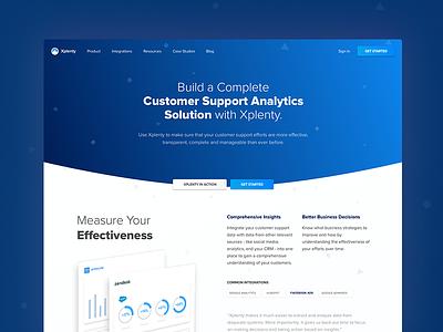 Customer support landing page support xplenty website solution landing page