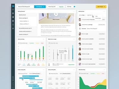 Xplenty Dashboard data viz data buttons progress bar chart product app dashboard