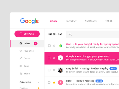 Gmail Redesign ui dashboard inbox email mail gmail