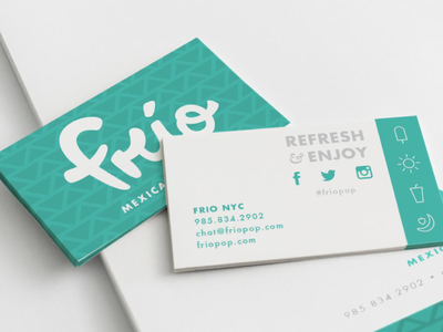 Frio Mexican Popsicles Logo And Business Cards For A Fictional Popsicle Smoothie Food Truck