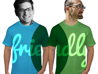 a BIGGER Friendly T Shirt - In Two parts friendly friendly-design-co tshirts shirts illustration composite fun