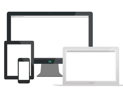 Friendly Device Illustrations apple devices iphone ipad macbookair flat illustration friendly apple devices cinema display flat-design friendly design co