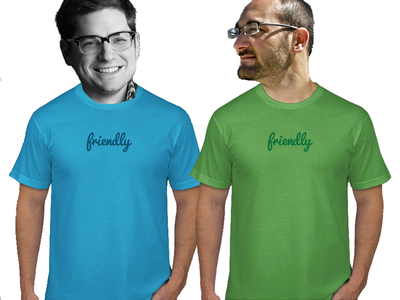 Friendly T Shirt Round 6 friendly illustration composite friendly-design-co fun shirts tshirts simple minimal