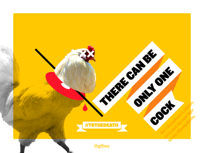 Born to be Kings nclud gffmx battle chicken rooster highlander tothedeath illustration typography composite