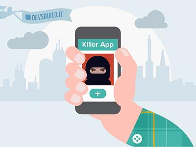Killer App in the World illustration animation flat art direction app design