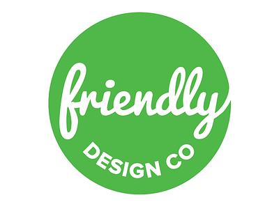 Friendly Design Co. Logo 4 friendly logo circle green script