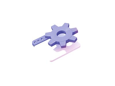 Settings 3d render c4d cogwheel settings illustration icon