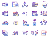 Appointment Icons Set.