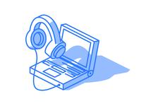 Isometric webinar illustration