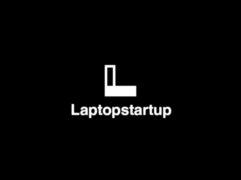 Laptopstartup Logo l bold logo laptop