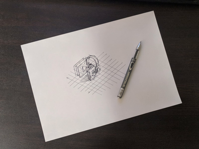 Isometric icon design process