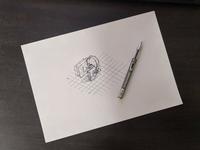 Isometric icon design process