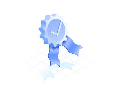 Quality isometric icon