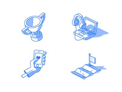isometric line icons