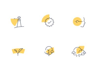 Geometric icons set