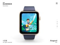 Apple watch background in summer