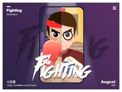 The beginning of the school season face fight boxing school apple macbook ux ui finder mac design illustration