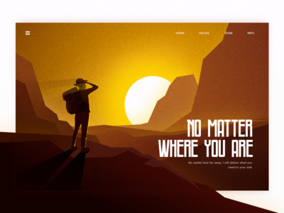 I'll be there for you wherever you are light tourists travel love mountain mockup ux blur design apple macbook mac ui illustration