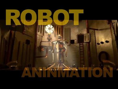 Handmade animation factory robot light blur illustration ux design finder ui mac handmade animation